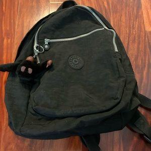 Kipling Small Black Backpack Nylon